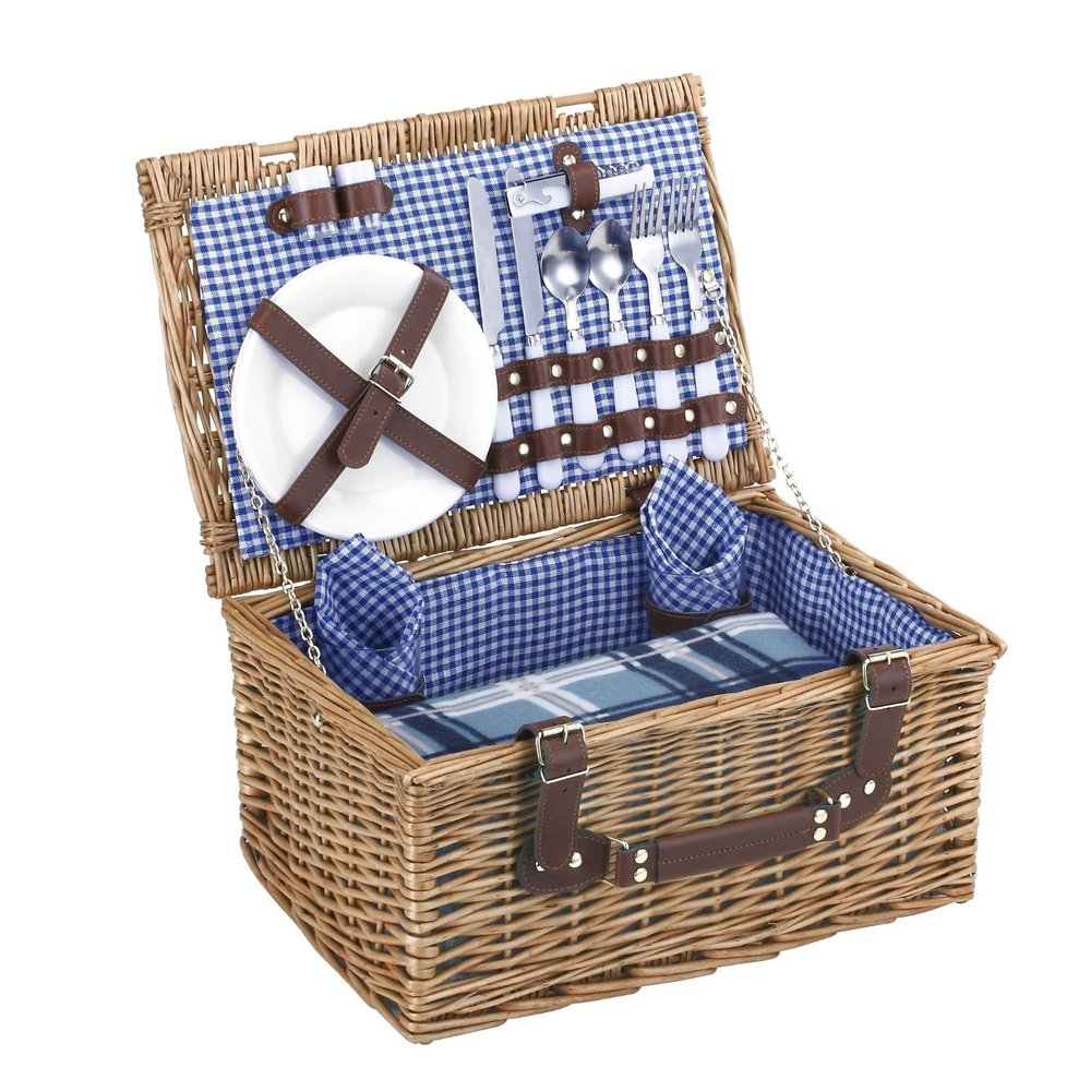 Blue Gingham Picnic Basket, $57 | the weekly edit