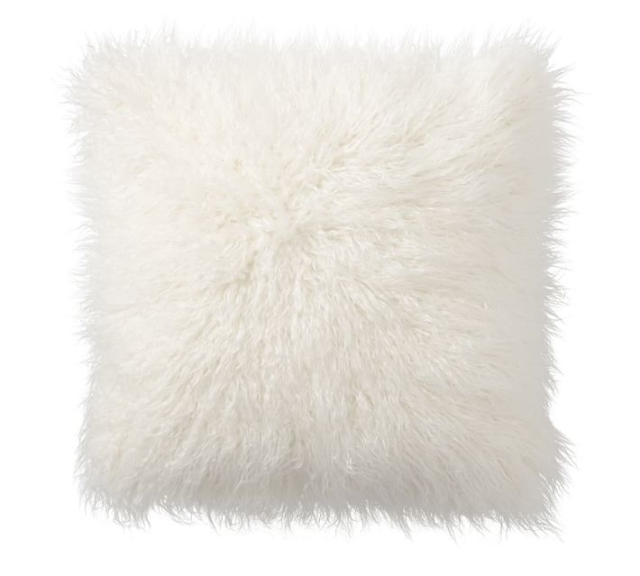 Mongolian Faux Fur Pillow Cover, $45 | the weekly edit