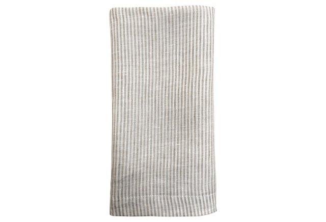 Vintage Striped Linen Napkin, $19 | the weekly edit