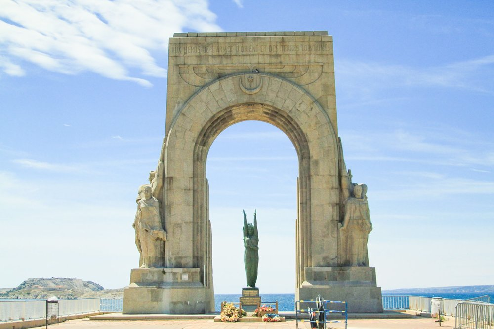 La Porte de l'Orient in Marseille, France #mfrancisdesigntravels