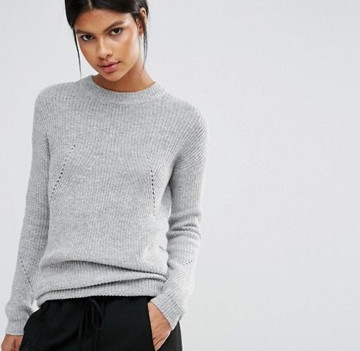 grey melange sweater