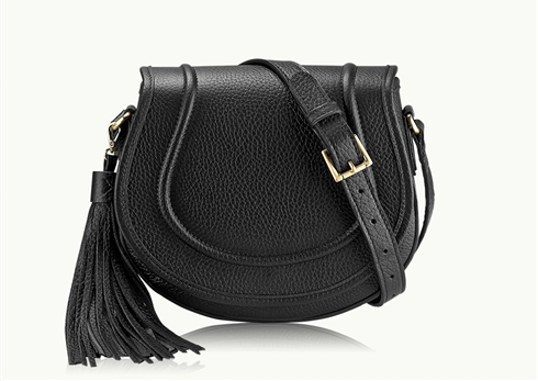 Leather Saddle Bag with Tassel on the Weekly Edit