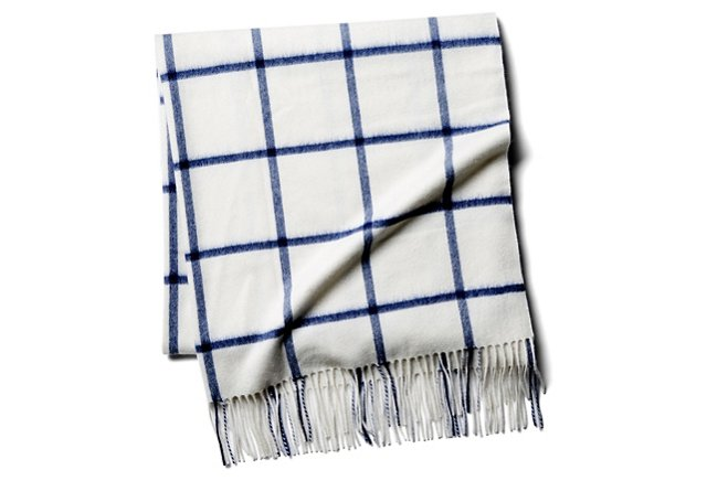 Blue Windowpane Throw from the Weekly Edit