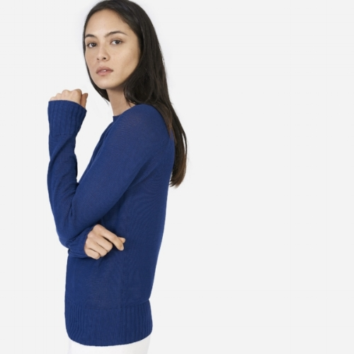 Blue Open Knit Sweater from the Weekly Edit