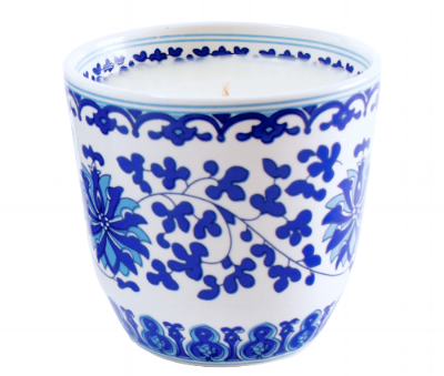 Blue and White Lotus Candle from the Weekly Edit