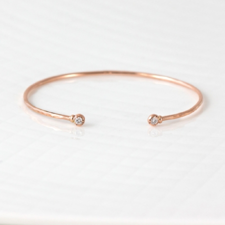 Gold Cuff Bracelet with Diamonds on The Weekly Edit