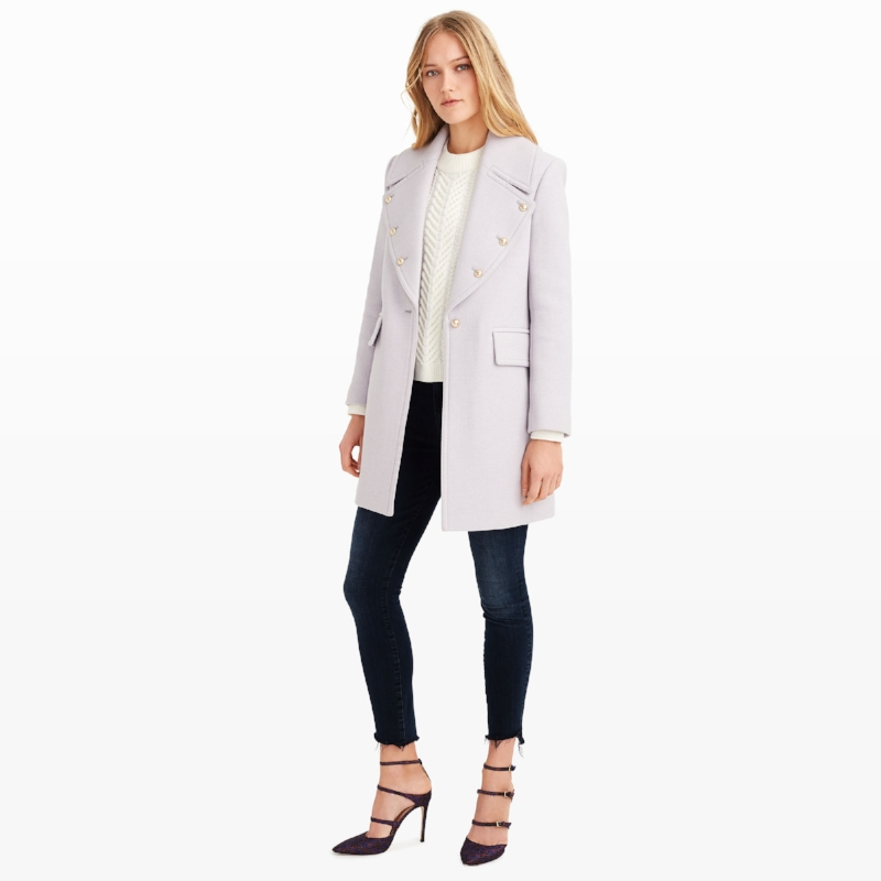 Club Monaco Lavender Coat on the Weekly Edit