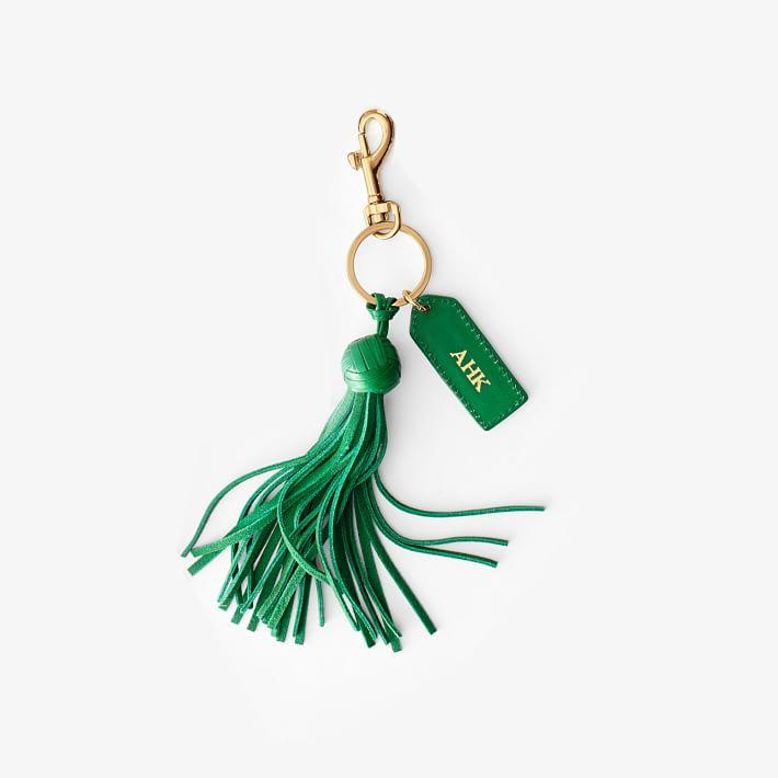 Monogrammed Tassel Keychain on the Weekly Edit