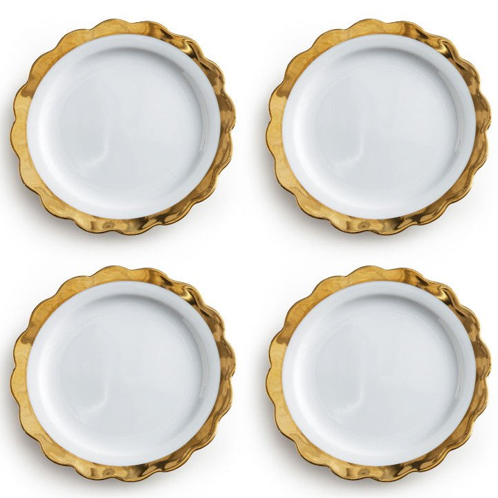 Gold Scalloped Dessert Plates on the Weekly Edit