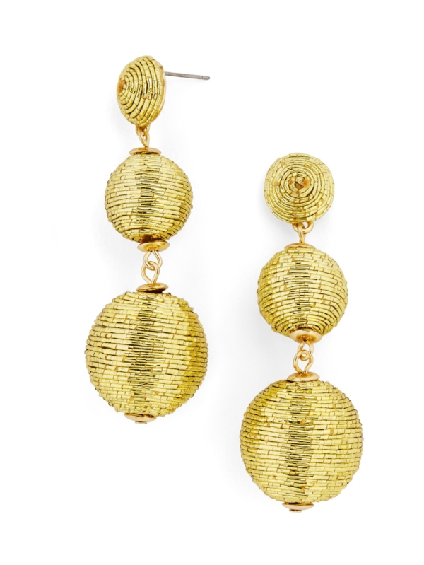 Gold Drop Earrings on the Weekly Edit