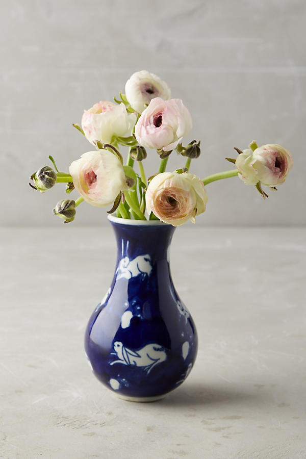 Blue and White Bunny Vase on the Weekly Edit