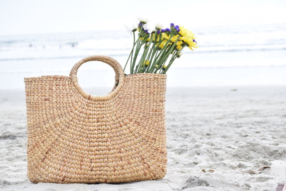 Handmade Seagrass Market Tote on the Weekly Edit