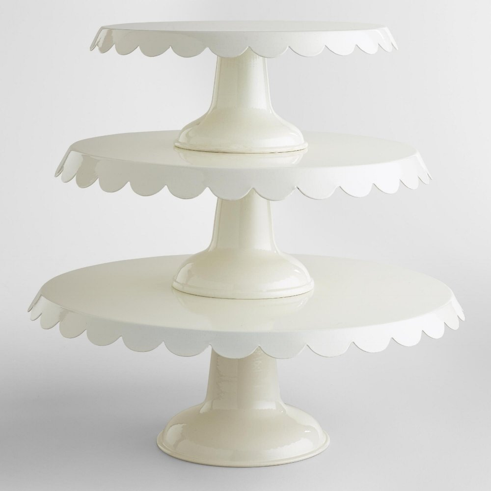 Scalloped Cake Stands on the Weekly Edit