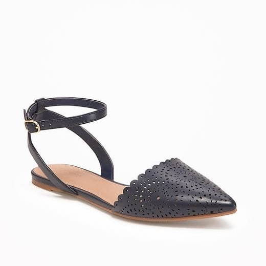 Scalloped D'Orsay Flats on the Weekly Edit