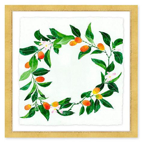 Gabby Malpas Framed Wreath Print on the Weekly Edit