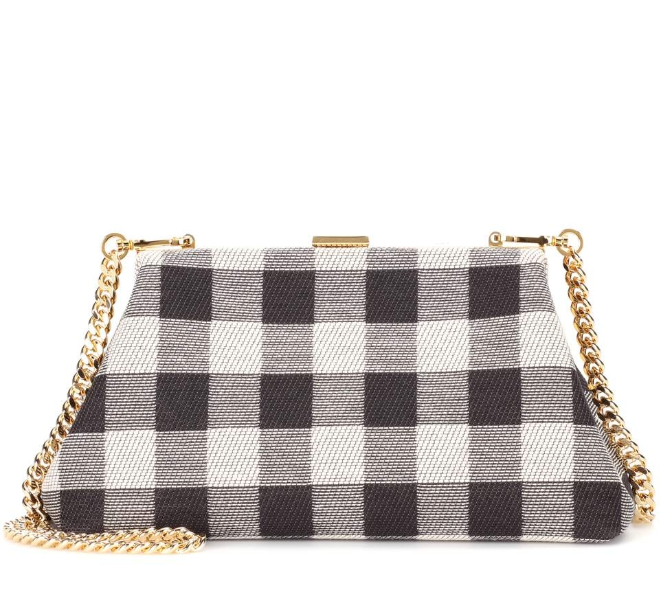 Mini Volume Checker Clutch Bag on the Weekly Edit