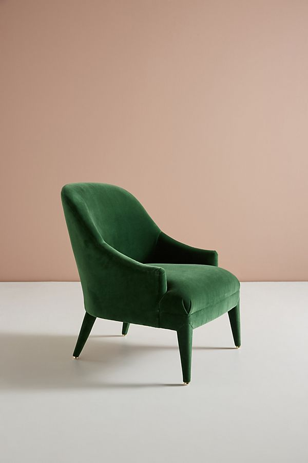 Forest Green Velvet Chair | The Edit