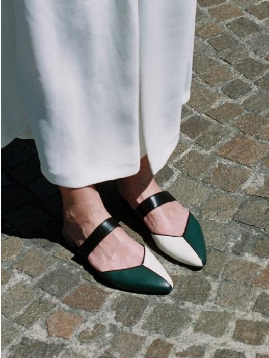 Mondrian Slides in Black, White, Green