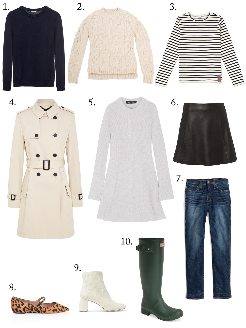 My Top 10 Style Staples for Fall | As a lover of fashion and classic style, these are the ten things I wear constantly in autumn. From leather jackets to stylish flats, click through to shop them all!