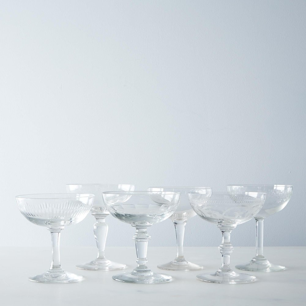 Set of Vintage Coupe Glasses