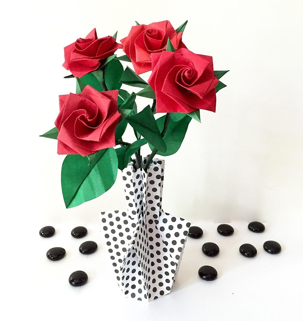 Origamipaper flower arrangements nlm origami passion img4911g mightylinksfo