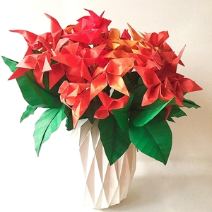 Large origamipaper flower arrangements nlm origami passion img7049g mightylinksfo