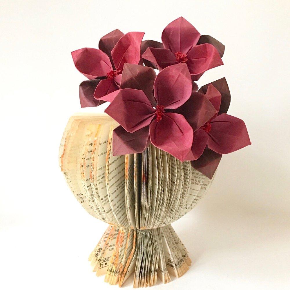 Wildflower in book vase