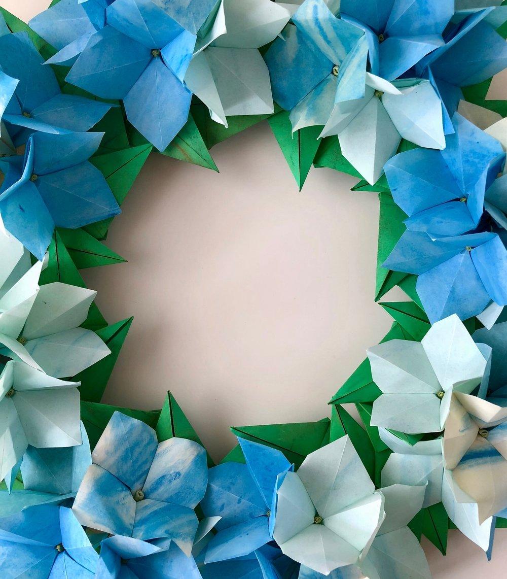 Hydrangea Wreath blue