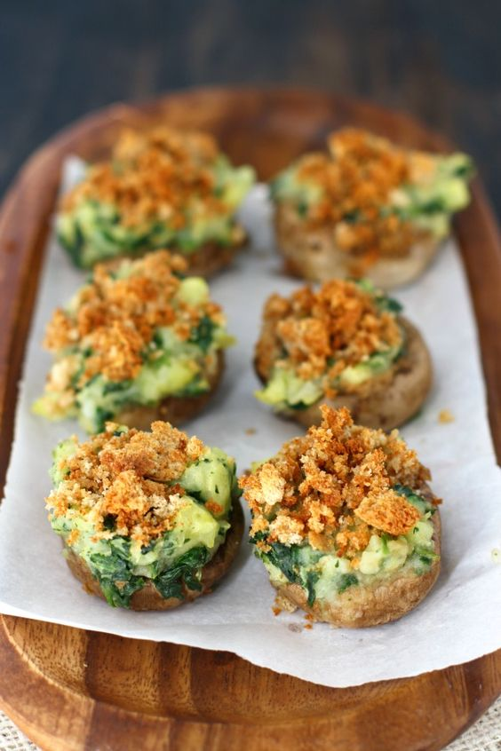 PC: http://theprettybee.com/2013/03/vegan-stuffed-mushrooms.html