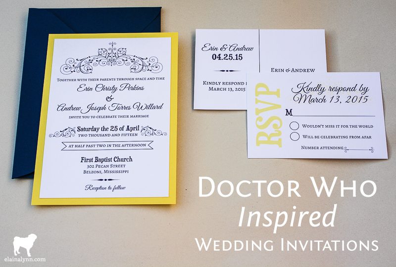 doctor who inspired wedding invitations enchanted type