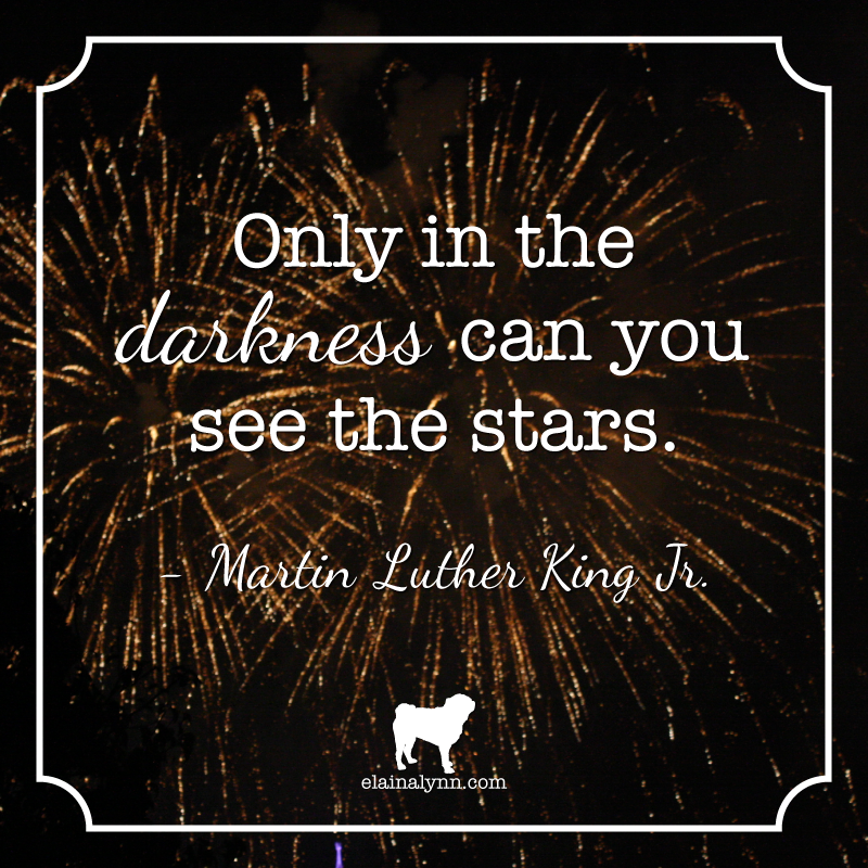 Quote MLK See the Stars