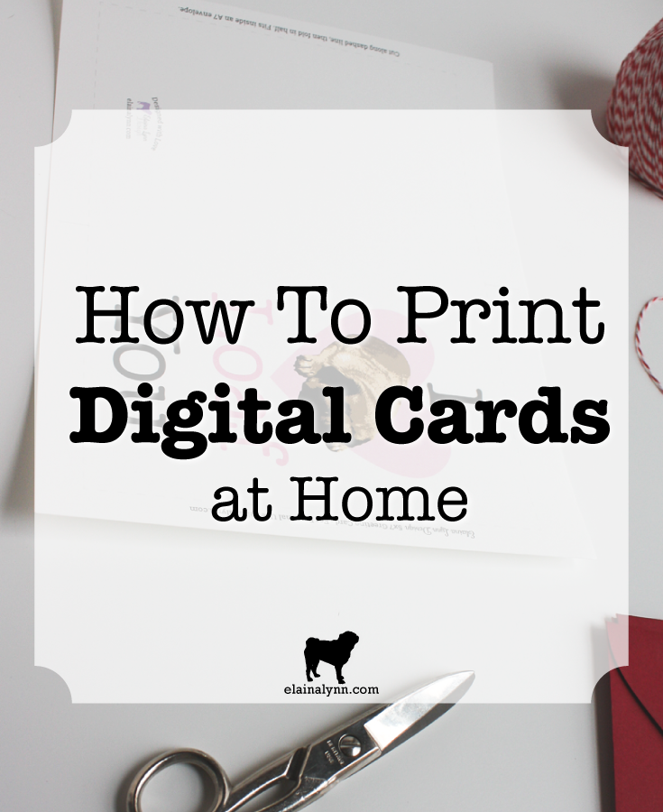 How to Print Digital Cards at Home