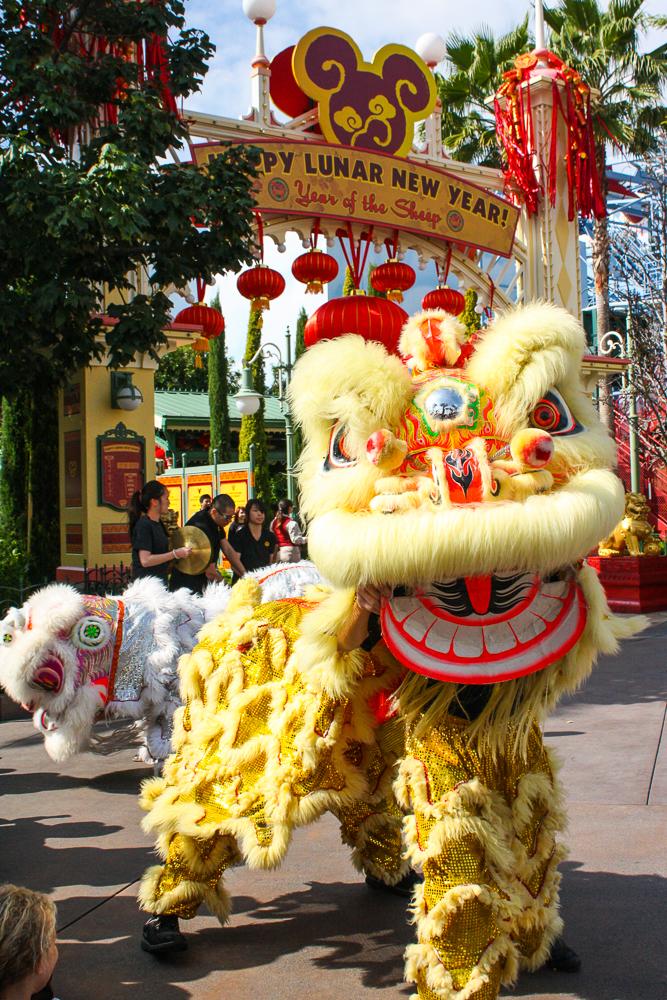 Lunar New Year dragons