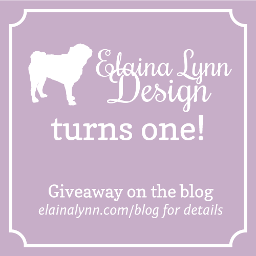 Elaina Lynn Design Turns One Giveaway