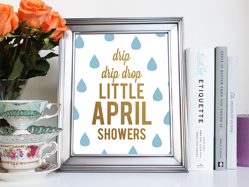 Little April Showers Bambi art print