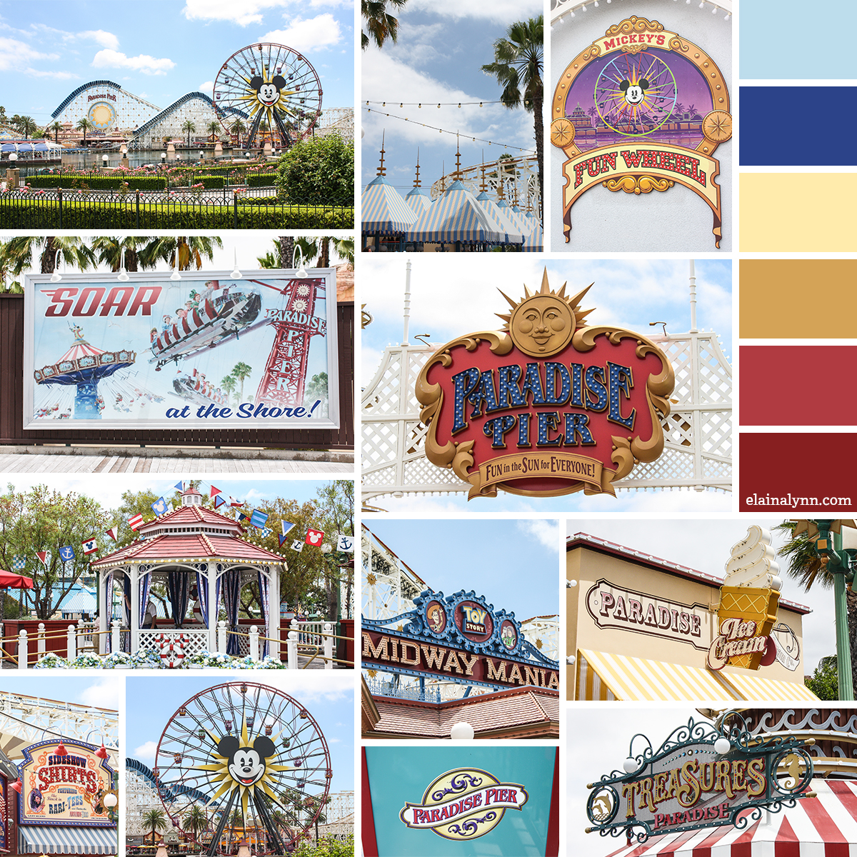 Disney California Adventure Paradise Pier Moodboard