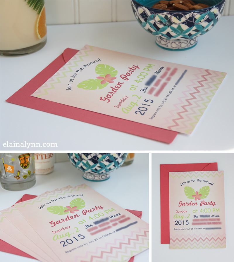 Garden Party Printable Invitations