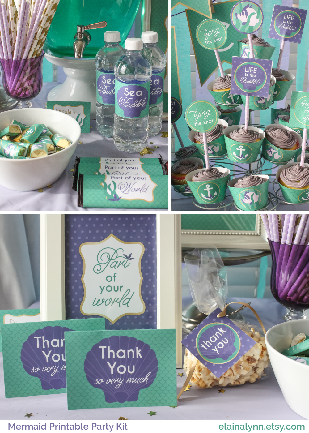 Ariel the little mermaid princess party