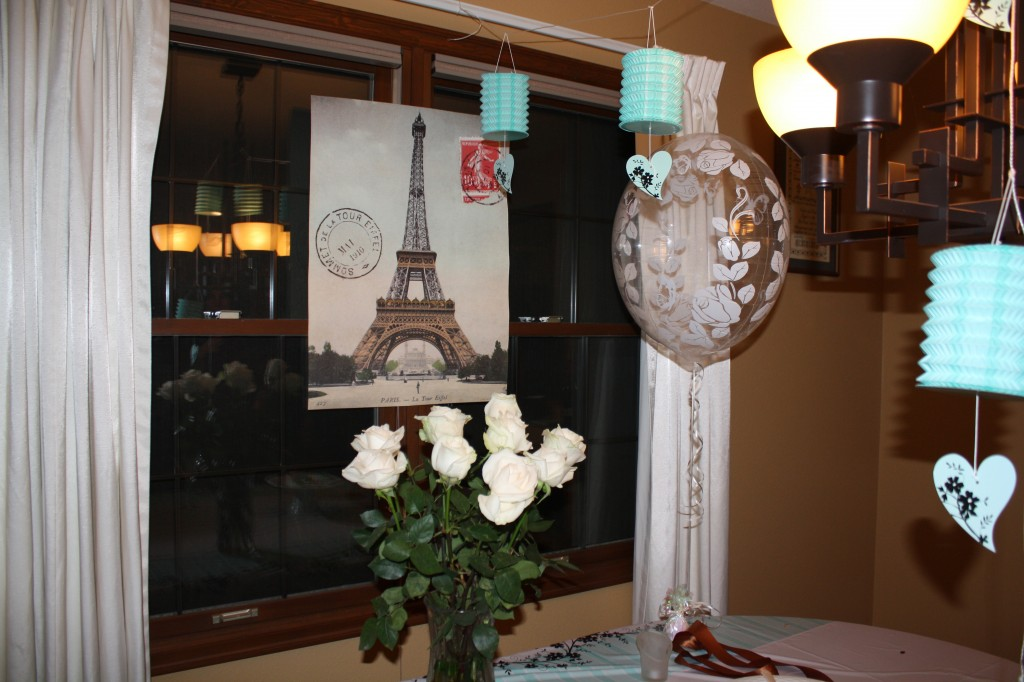 Engagement party Paris theme