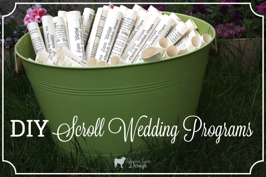 easy scroll wedding programs enchanted type