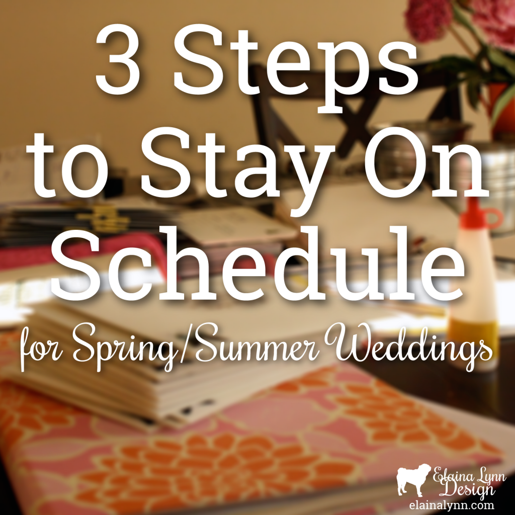 3 Steps to Stay On Schedule for Spring/Summer Weddings