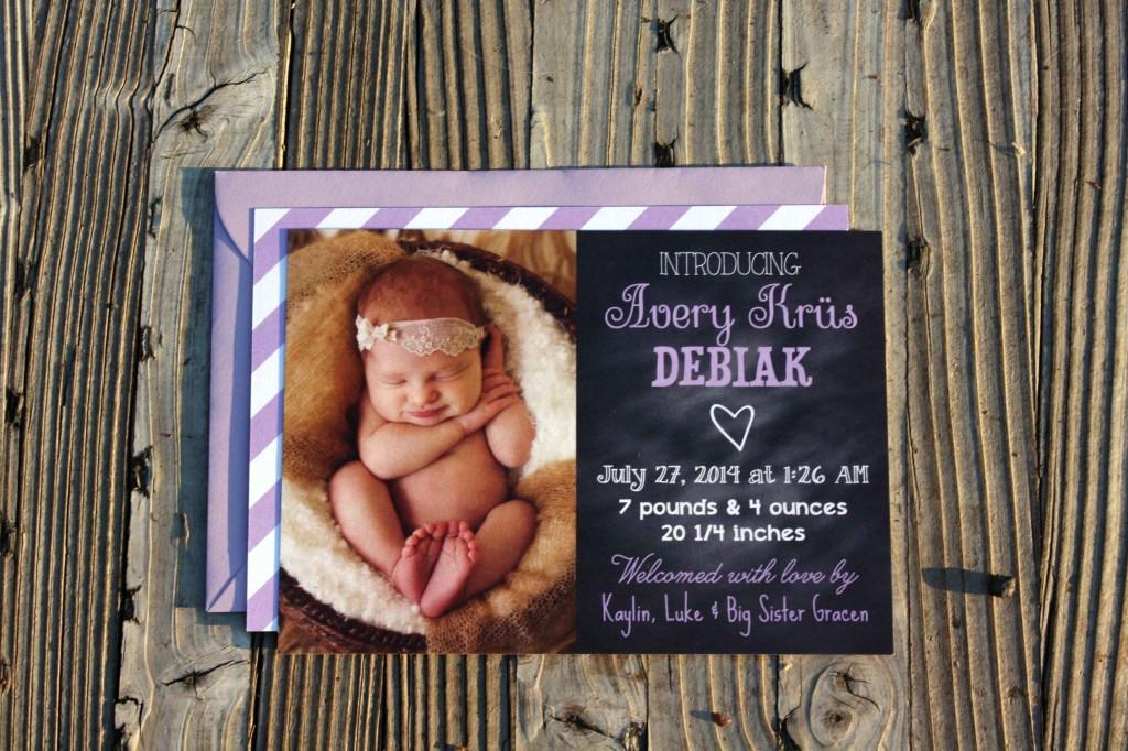 Newborn Birth Announcement