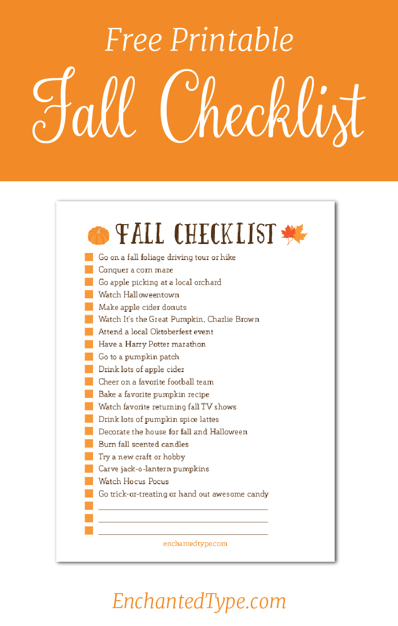 Fall Checklist_Enchanted Type