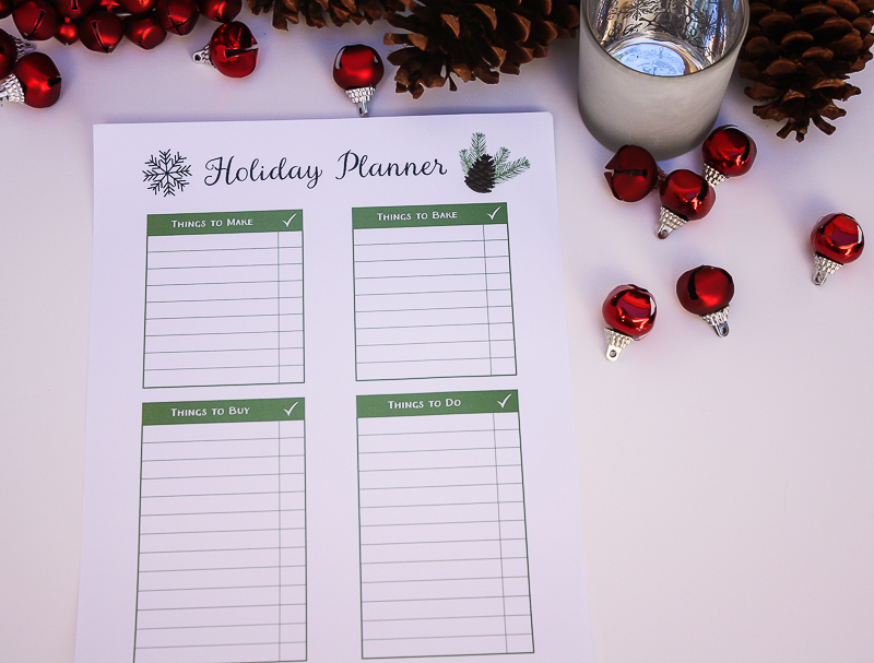 Holiday Printable Planner - Enchanted Type
