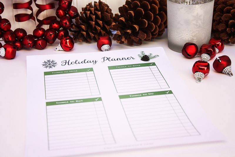 Holiday Printable Planning Page - Enchanted Type
