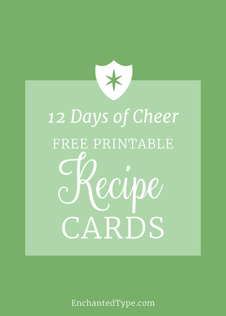 Free Printable Recipe Cards - Enchanted Type