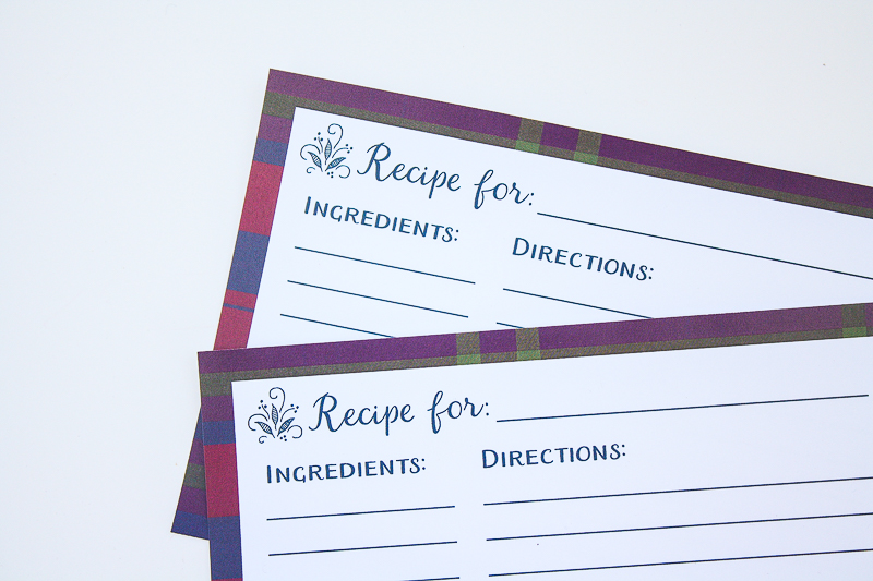 Free Printable Holiday Recipe Cards - Enchanted Type