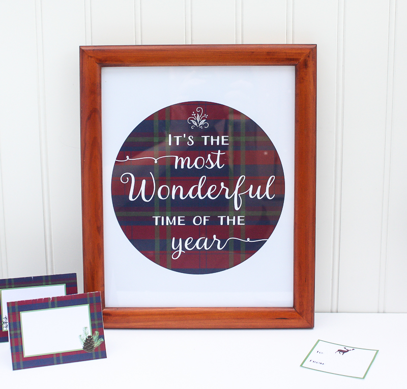 It's the Most Wonderful Time of the Year printable quote art - Enchanted Type
