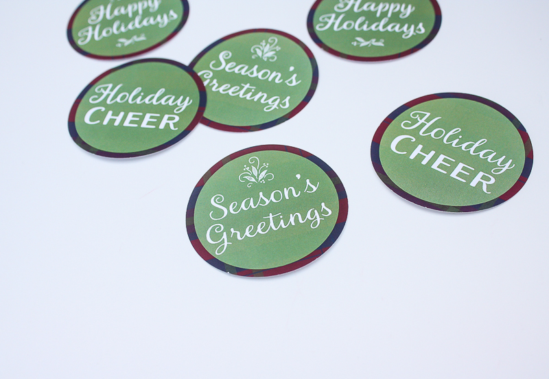 Free Printable Holiday Stickers - Enchanted Type