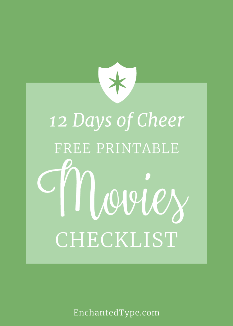 Holiday Movies Checklist Free Printable - Enchanted Type